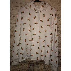 Forever 21 White Pineapple Hoodie Plus Size 2X
